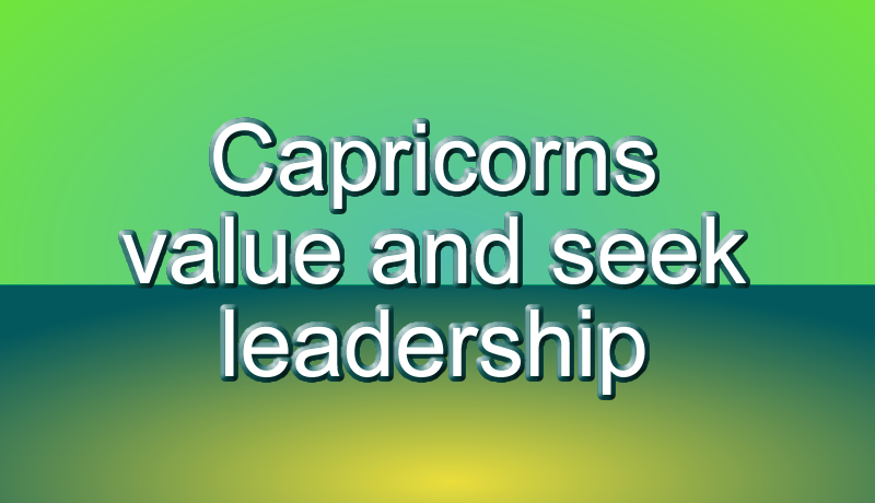 Capricorns enjoy interactions with friends and family