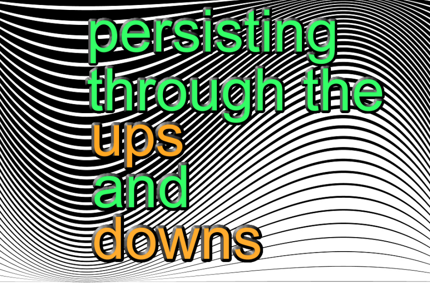 Persisting through the downs and theUps